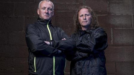 Nick Bachelor and Paul James, contestants in Hunted (C) C4