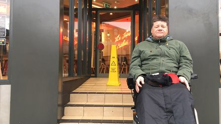 Wayne Chivers, 52, accused the KFC store in Regent Road, Great Yarmouth of ignoring disabled people