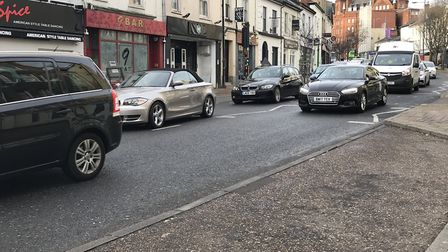 Traffic in Prince Of Wales Road. Picture: Victoria Pertusa
