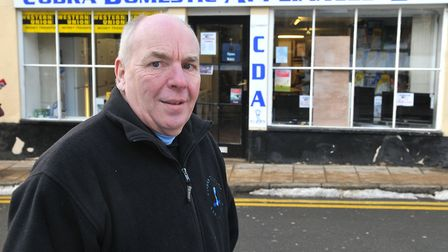 Thetford Mayor Roy Brame, who has owned Cobra Domestic Appliances for more than 40 years, pictured o