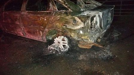 The car that was found in Taverham. Picture: Martin Kent