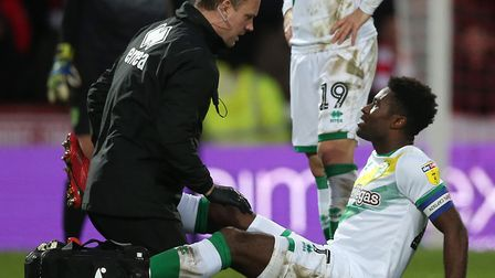 Alex Tettey suffered a groin injury at Brentford Picture: Paul Chesterton/Focus Images Ltd