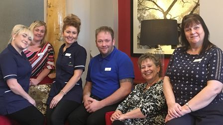 The team that help run Hethersett Hall Care Home in Norwich. Picture: Hethersett Hall