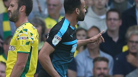 Hal Robson-Kanu scored the crucial goal when West Brom won 4-3 at Norwich in August Picture: Paul Ch