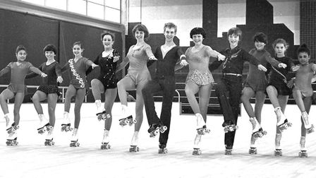 Skaters at Rollerbury in February 1982. Picture: ARCHANT