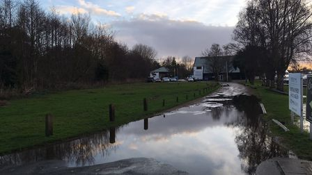Areas surrounding the Riverside Estate in Brundall had been flooded following the strong winds and h