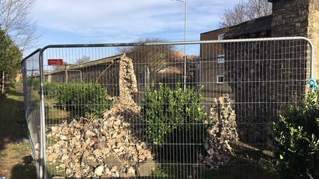 Great Yarmouth Borough Council have knocked down the wall amid safety fears. Picture: Joe Norton