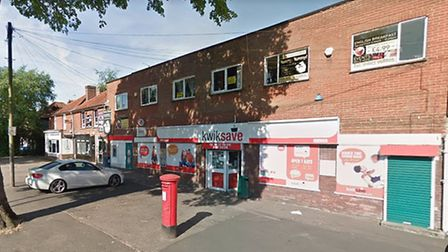 The Kwiksave store on Larkman Lane which was the scene of an attempted robbery last night. Picture: