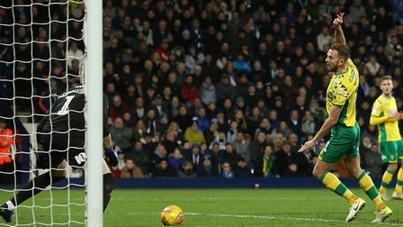 The magic moment from Jordan Rhodes which earned Norwich a point at West Brom Picture by Paul Cheste