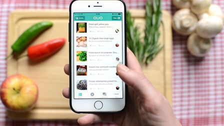 The OLIO app allows people to advertise food they don't want. Photo: Annabel Staff