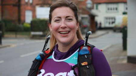 Rhianwen Smee, who has signed up for a 48-mile 'ultra' marathon to raise cash to support people with