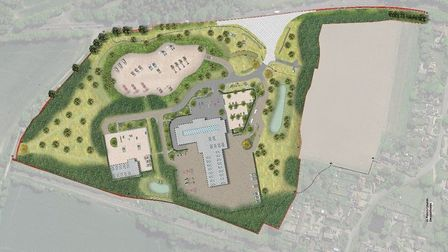 A computer-generated image of the proposed Ben Burgess headquarters at Swainsthorpe.