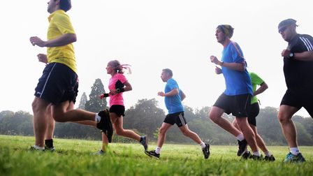 People running at Catton Park. Picture: DENISE BRADLEY