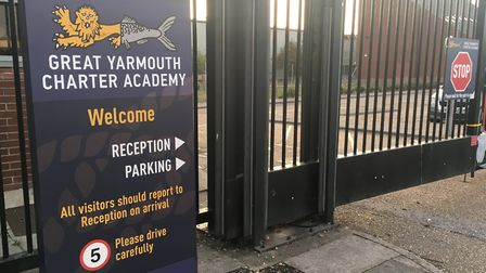Great Yarmouth Charter Academy's site at Thamesfield Way, which will be closed on Monday due to floo