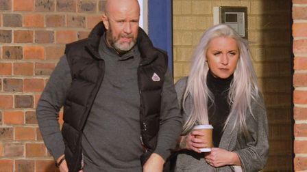 John and Catherine Miller leaving Norwich Crown Court. Picture: Archant