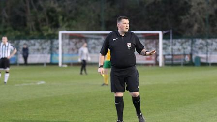 Phil South, 39, from Diss, has been refereeing for 22 seasons and was named Norfolk FA Grassroots Ma
