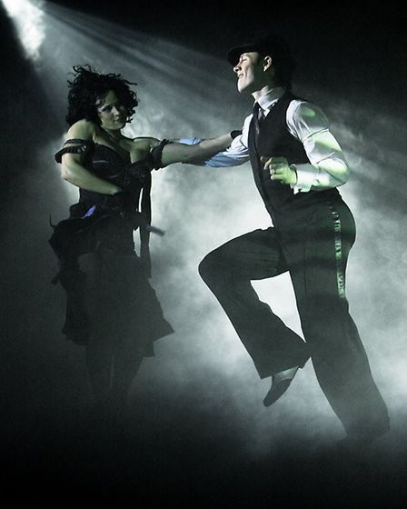 Kevin Clifton performing in a Burn The Floor production. Picture Mark N Kitaoka.