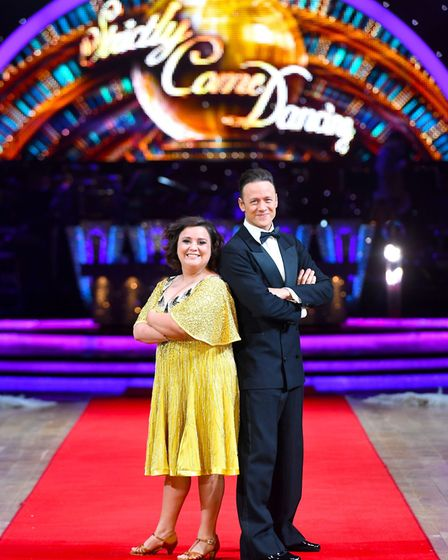 Susan Calman and Kevin Clifton during the Strictly Come Dancing Live Tour Launch. Picture Joe Gidden