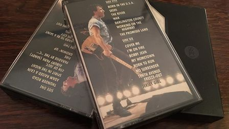 These Bruce Springsteen cassettes were the only ones Judy Rimmer could find in her house Picture: JU