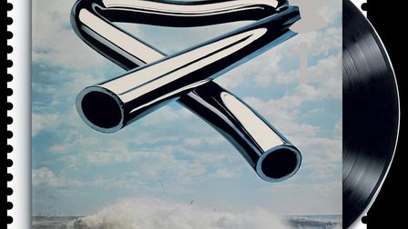 The special stamp showed the vinyl version, but Tubular Bells by Mike Oldfield was also a hit on cas