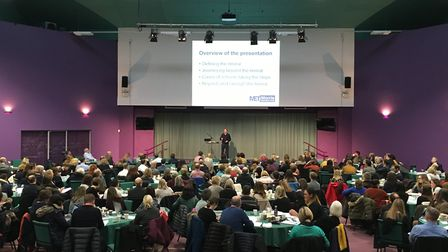 Rob Cambell, chief executive of the Morris Education Trust, speaks at the Norfolk Curriculum Confere