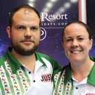 Lesley Doig and Jamie Chestney enjoyed success in the Mixed Pairs at Potters Picture: David Rhys Jon
