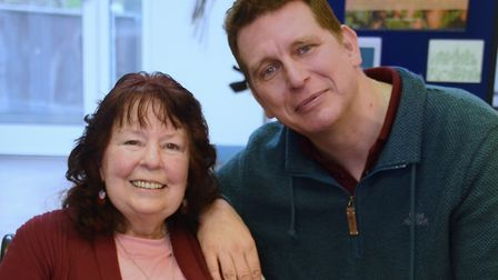 Jo and Gary Rose who needed to use one of the Norwich Foodbank's distribution centres at the New Hop