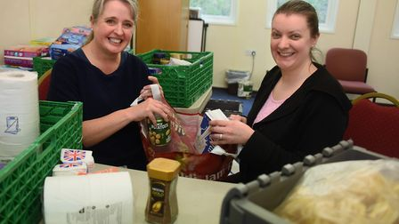 New Hope Christian Centre church leader, Clare Elkins, left, and Hannah Worsley, project manager, at