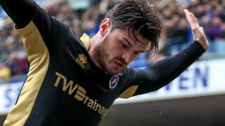 Ben Marshall was back in a Millwall shirt on Saturday, after joining on loan from Norwich, during a