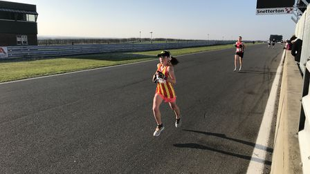 City of Norwich athlete Leanne Finch was second female in the 10K at Snetterton. Picture: Mark Armst