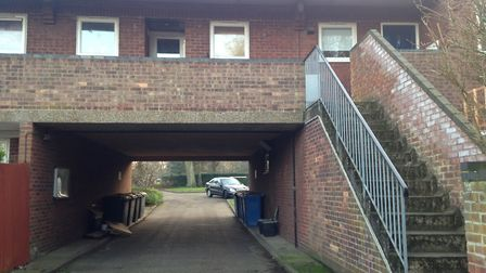 A man was arrested at Aplsey Court, Norwich. Picture: Archant