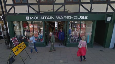 Mountain Warehouse in Cromer. Picture: GoogleMaps