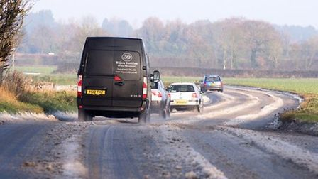 Drivers have been told to take care on the roads while a Met Office warning for ice in the East of E
