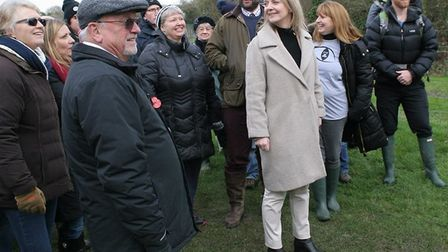 MP Elizabeth Truss and members of Campaigners against two silica sites (CATSS) meet at the proposed