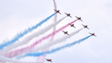 The Haven Gt Yarmouth 2018 Air Show.The Red Arrows.Picture: Nick Butcher