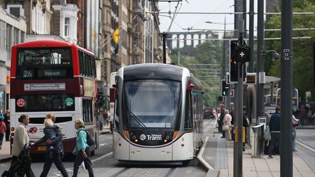 Trams in Edinburgh. Could Norwich follow suit? Pic: Andrew Milligan/PA Wire