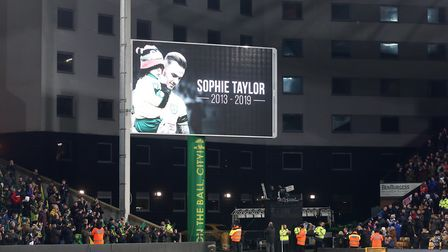 A minutes applause was held in memory of Sophie Taylor before the Sky Bet Championship match at Carr