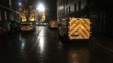 A body was discovered at a property on Upper St Giles Street. Picture: Dominic Gilbert