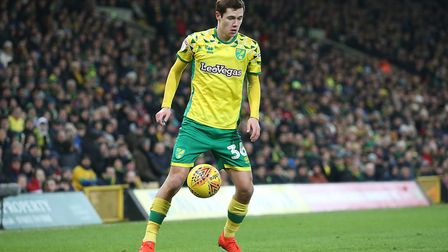 Todd Cantwell of Norwich in action during the Sky Bet Championship match at Carrow Road, NorwichPict
