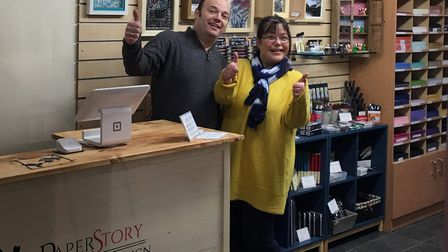 PaperStory, which is run by Angela and Christopher Park, opened on January 19 in Bawdeswell Garden C