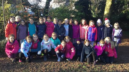 Norwich High School for Girls prep students enjoying a residential trip to Burwell House in Cambridg