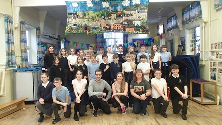 The children of St Faiths' C of E Primary School were visited by professional director Chris Cumming