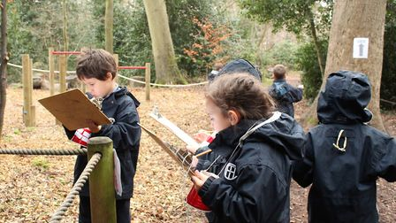 Town Close School Reception children thoroughly enjoyed a letter hunt through the School woods. Phot
