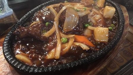 The sizzling beef dish at the Royal Garden in Attleborough. Picture: STUART ANDERSON