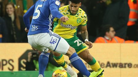 Onel Hernandez helped the Canaries beat Birmingham 3-1 at Carrow Road on Saturday Picture: Paul Ches
