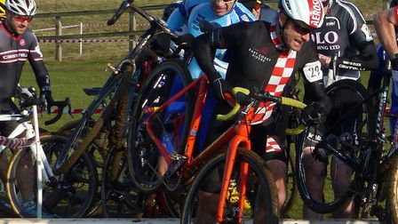 Peter Farrell had a season's best result at the Iceni Velo cyclo-cross at Snetterton Picture: Fergus