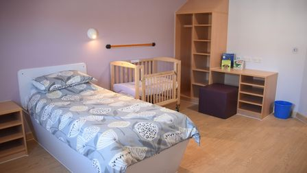 One of the bedrooms in the new Kingfisher Mother and Baby Unit at Hellesdon Hospital. Picture: DENIS