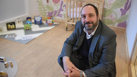 Norfolk and Suffolk NHS Foundation Trust chief executive, Antek Lejk, in the nursery at the new King