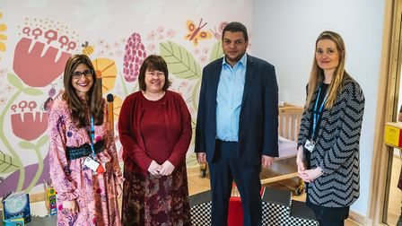 President of the Royal College of Psychiatrists visits the new mother and baby unit in Hellesdon Hos