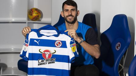 Nelson Oliveira in the tradition pose - with Reading shirt Picture: Reading FC